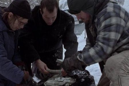 Bill Paxton, Billy Bob Thornton and Brent Briscoe in 'A Simple Plan.' (Paramount Pictures.)