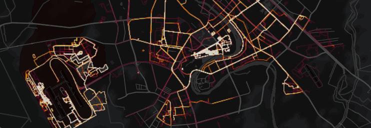 A Strava map of Bagdad (Strava)