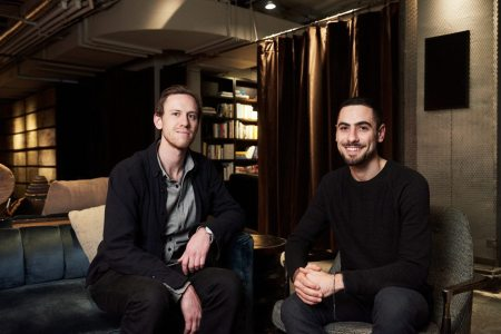 Think Olio's Chris Zumtobel and David Kurfirst photographed at NeueHouse in Manhattan by Sally Montana. (Photo courtesy Think Olio)