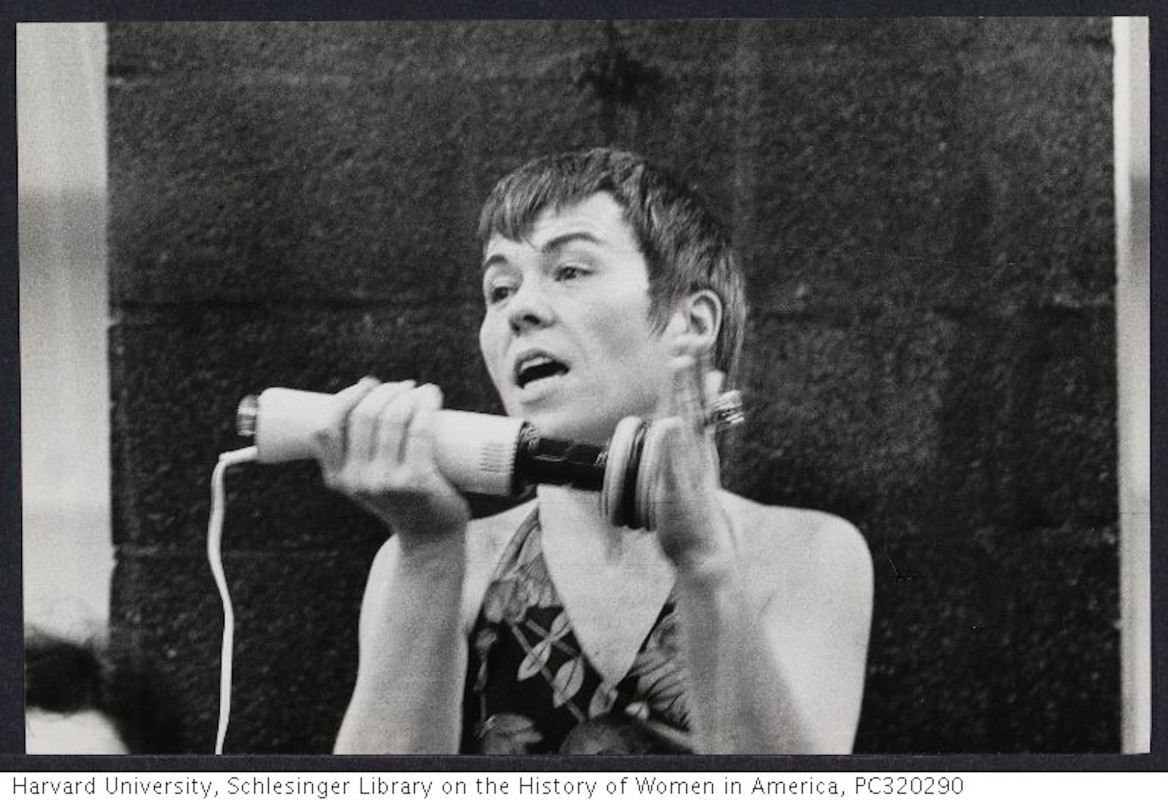 Betty Dodson at a sexuality conference. (Lane, Bettye , 1930-2012/ Harvard University.)