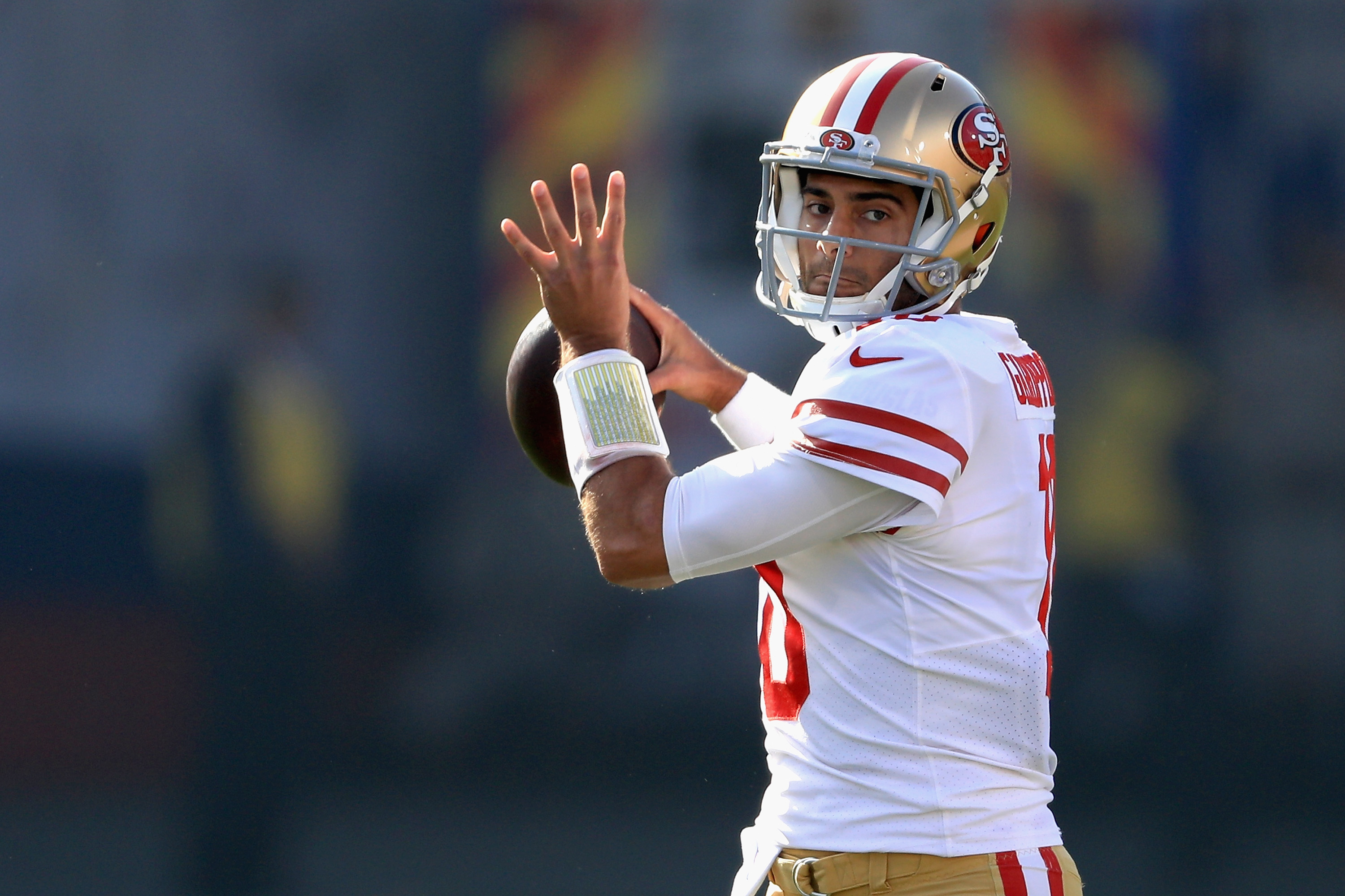 """Porn Film Sports Gear jimmy garoppolo calls date with porn star a """"good learning"""