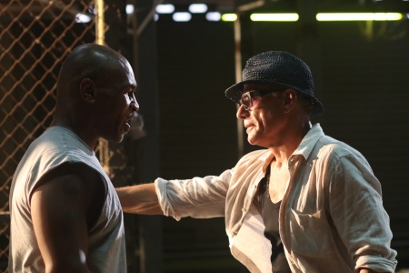 Mike Tyson and Jean-Claude Van Damme in 'Kickboxer: Retaliation.'
