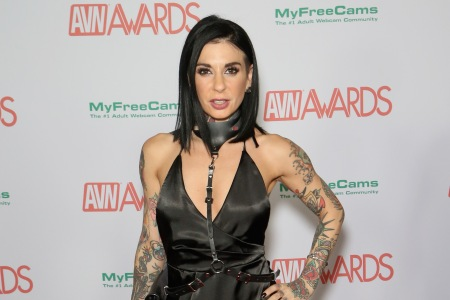 LAS VEGAS, NV - JANUARY 27:  Adult film actress/director Joanna Angel attends the 2018 Adult Video News Awards at the Hard Rock Hotel & Casino on January 27, 2018 in Las Vegas, Nevada.  (Photo by Gabe Ginsberg/Getty Images)