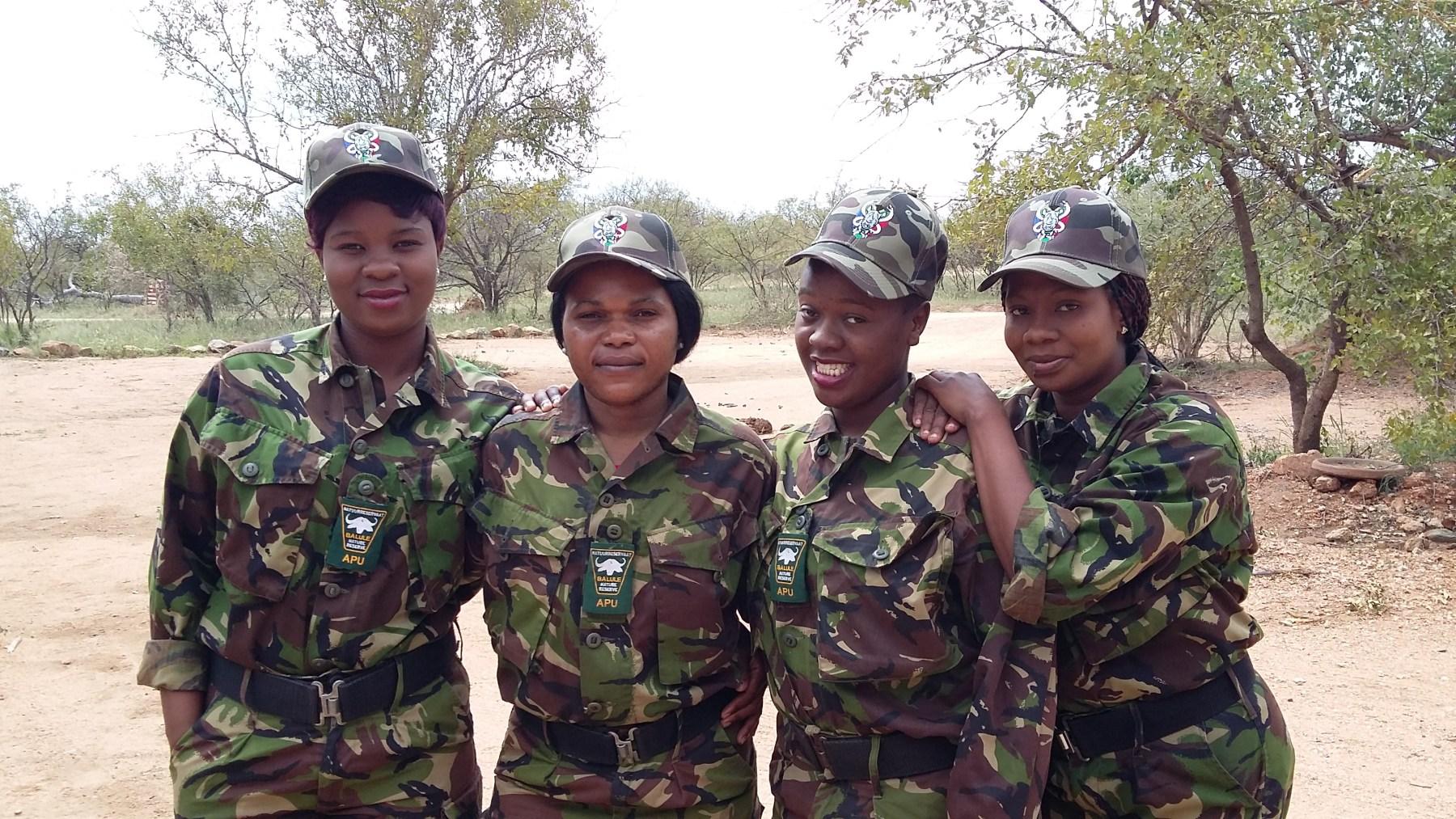 Female members of Black Mamba Anti-Poaching Unit (Courtesy of the Black Mambas)
