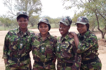 Female members of Black Mamba Anti-Poaching Unit (Courtesy of the Black Mambas)