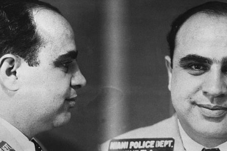 (Original Caption) Police mug shot of Chicago Mobster Al Capone. The photograph was taken by the Miami Police Department.