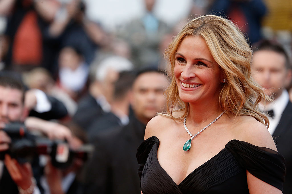 """Julia Roberts attends the screening of """"Money Monster"""" at the annual 69th Cannes Film Festival at Palais des Festivals on May 12, 2016 in Cannes, France. (Luca Teuchmann/WireImage)"""
