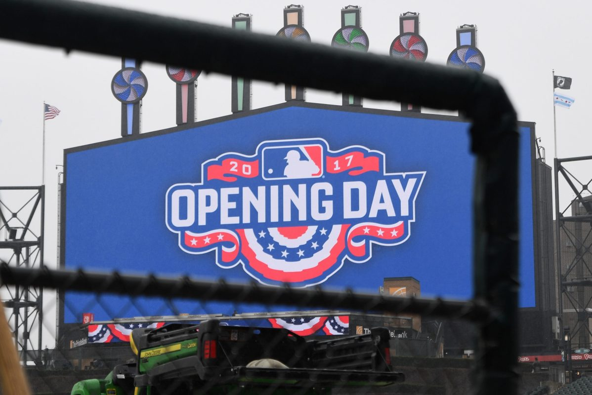 MLB opening day banner