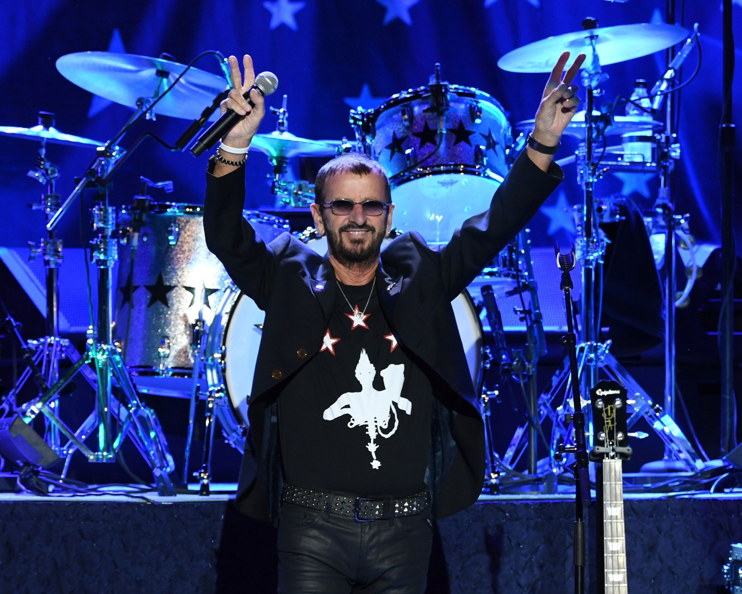 Recording artist Ringo Starr performs at Hollywood Resort & Casino in Las Vegas. (Photo by Denise Truscello/WireImage)