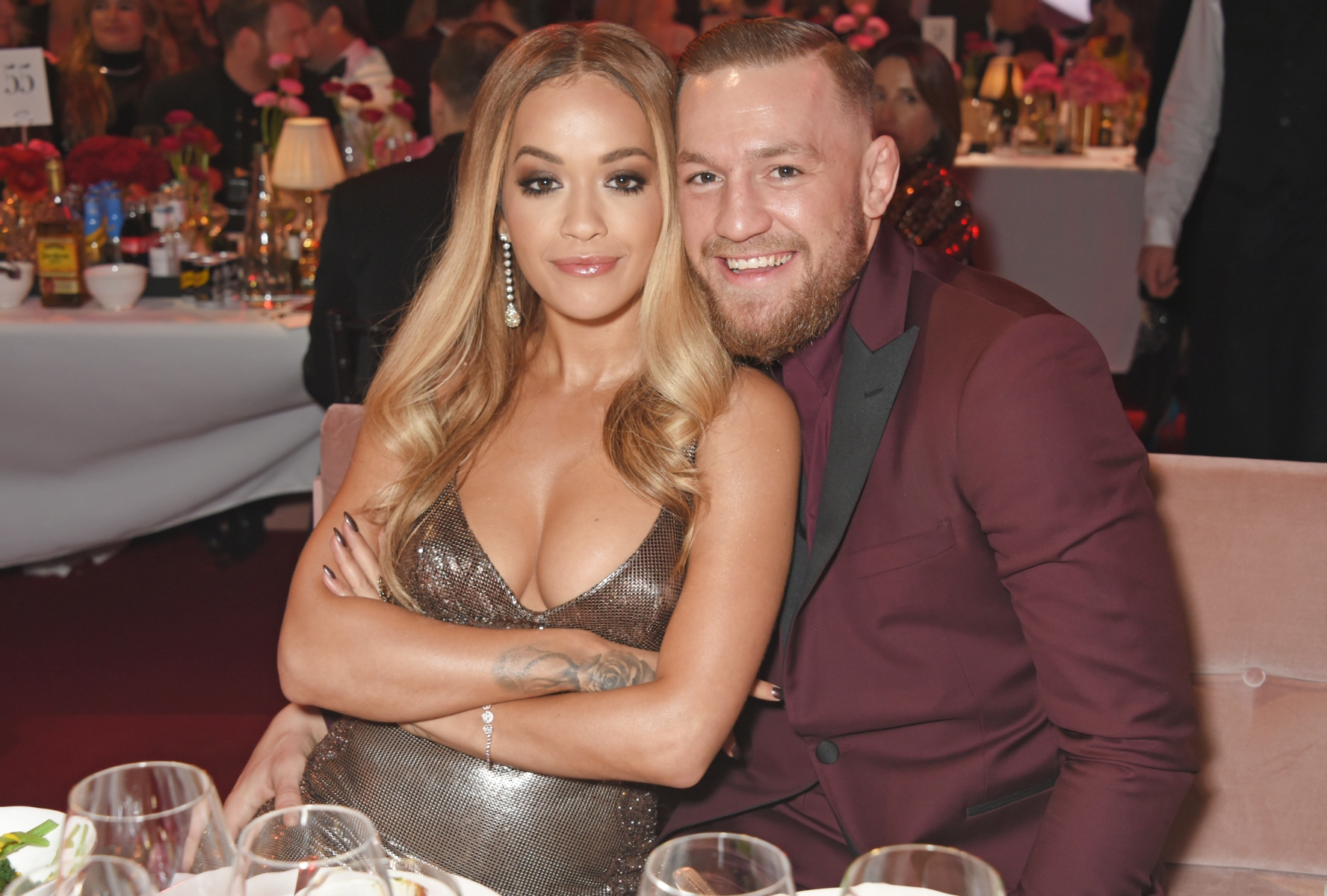 Rita Ora (L) and Conor McGregor attend a drinks reception ahead of The Fashion Awards 2017 in partnership with Swarovski at Royal Albert Hall on December 4, 2017 in London, England.  (David M. Benett/Dave Benett/Getty Images)