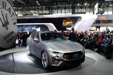 The Maserati Levante Trofeo at the 2018 New York International Auto Show.