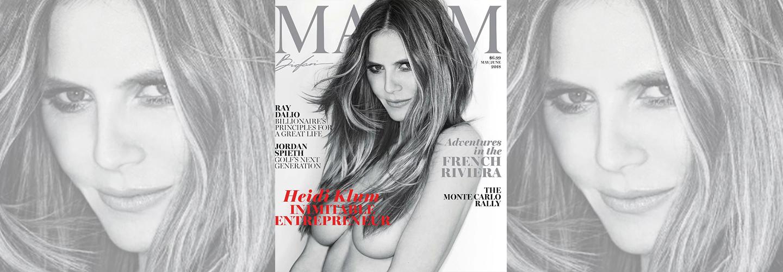 Maxim's May/June cover. (Gilles Bensimon/Maxim)