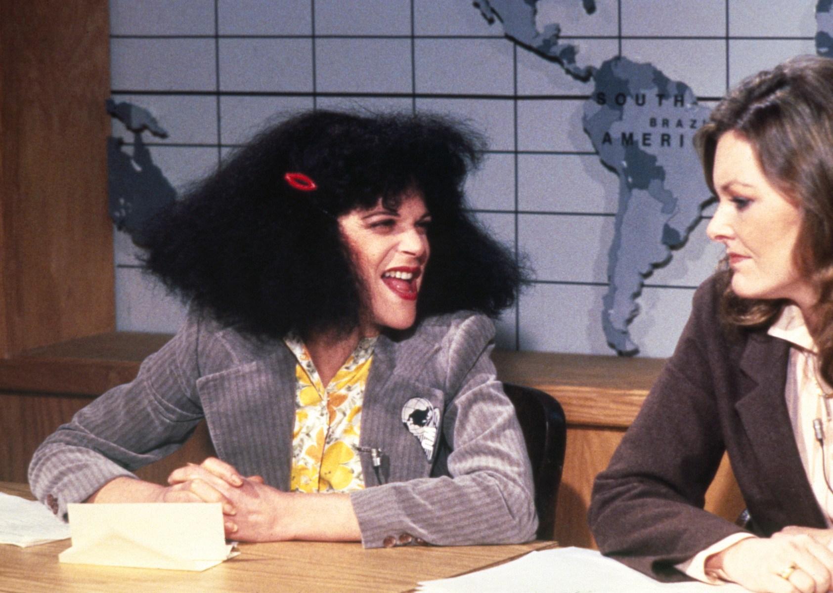 Gilda Radner as Roseanne Roseannadanna, Jane Curtin as herself  (NBC/NBCU Photo Bank via Getty Images)