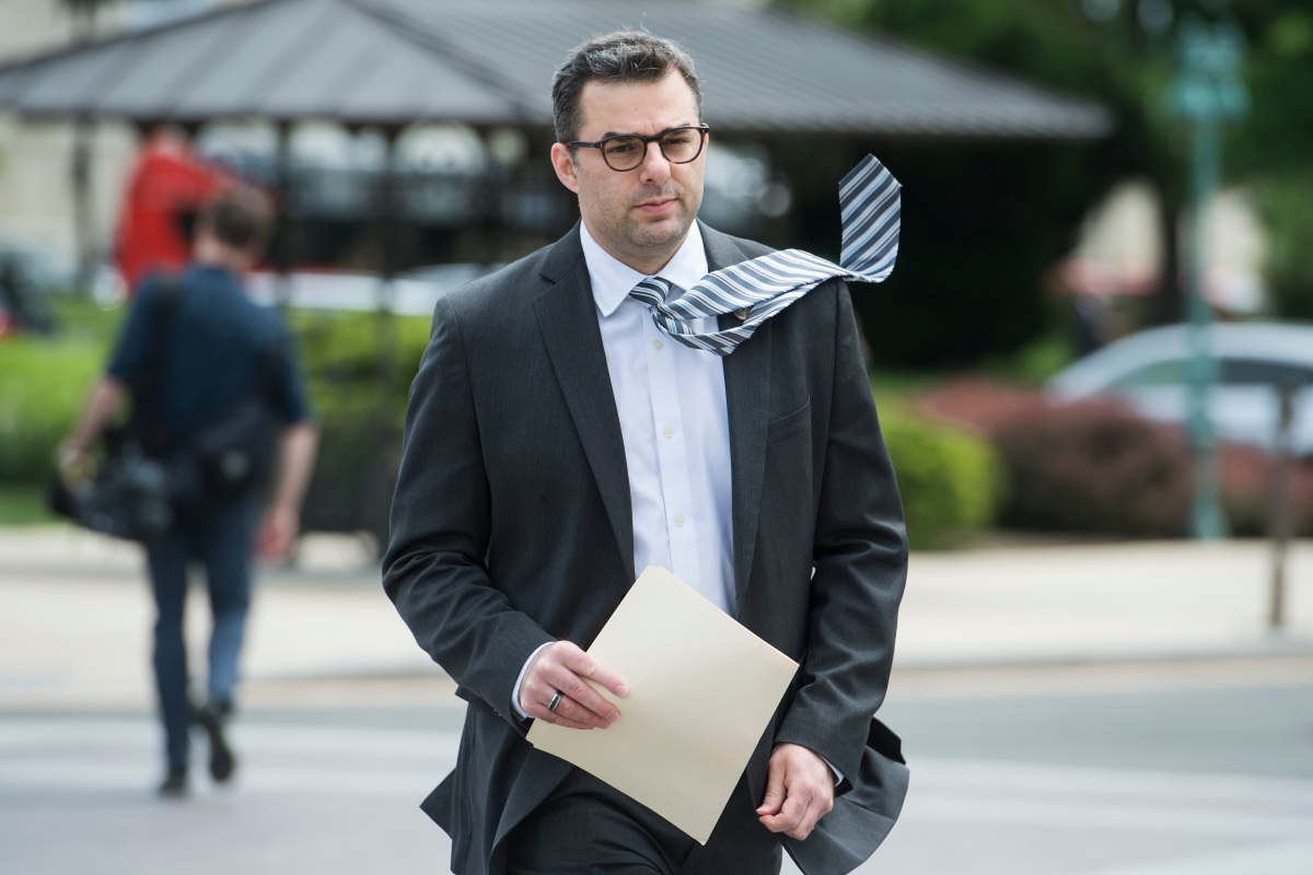 Rep. Justin Amash, R-Mich., arrives to the Capitol before the House passed the Republicans' bill to repeal and replace the Affordable Care Act on May 4, 2017. (Tom Williams/CQ Roll Call)
