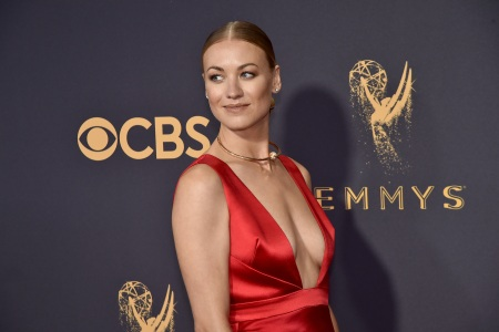 Yvonne Strahovski  attends the 69th Annual Primetime Emmy Awards at Microsoft Theater on September 17, 2017 in Los Angeles, California.  (Jeff Kravitz/FilmMagic)