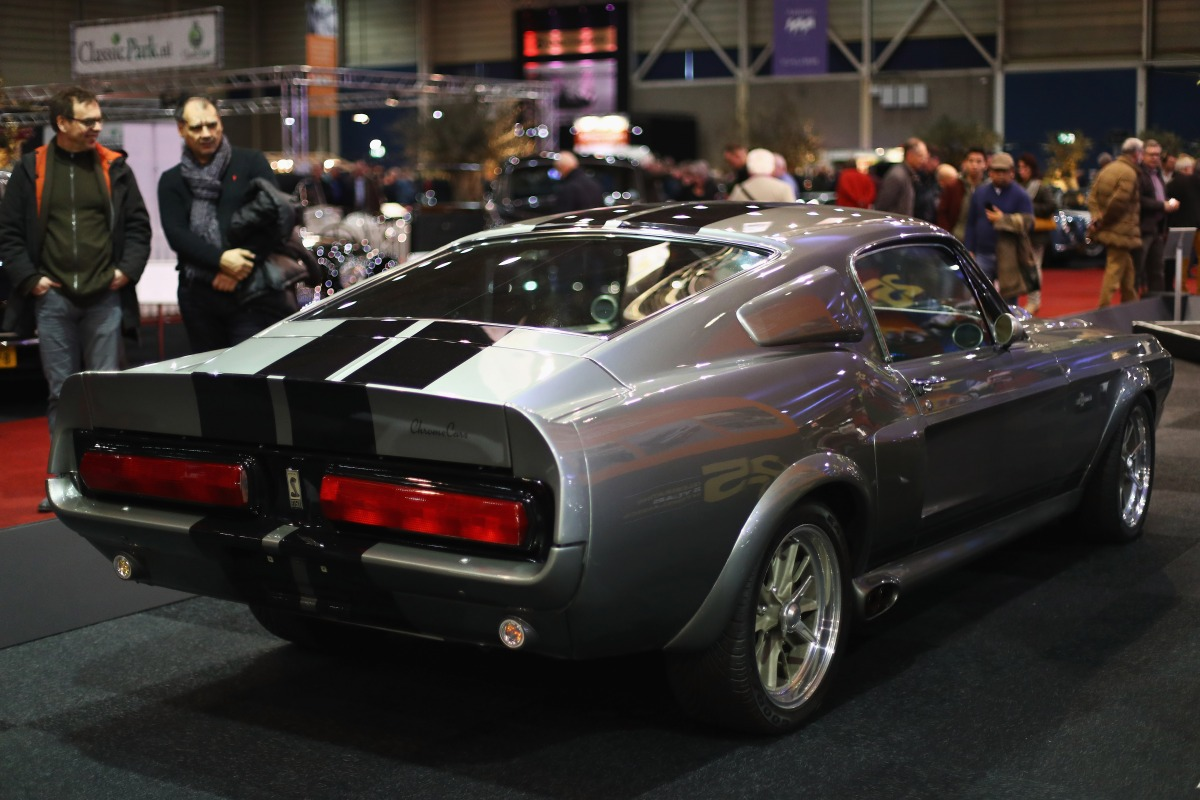 "A detailed view of the 1967 Ford Shelby Mustang GT500 know as Eleanor from the movie or Hero Car in, Gone in 60 Seconds during the 25th edition of InterClassics Maastricht held at MECC Halls on January 12, 2018 in Maastricht, Netherlands. Exhibitors and participants will be showing classic cars, engines, restoration equipment and supplies, new and used accessories, interiors, maintenance materials, literature, models, objects of art with the theme ""classic race cars"" plus club stands and museum representation.  (Photo by Dean Mouhtaropoulos/Getty Images)"