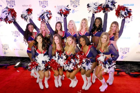 New England Patriots Cheerleaders attend The 27th Annual Party With A Purpose on February 3, 2018 in St Paul, Minnesota.  (Adam Bettcher/Getty Images for Taste Of The NFL)