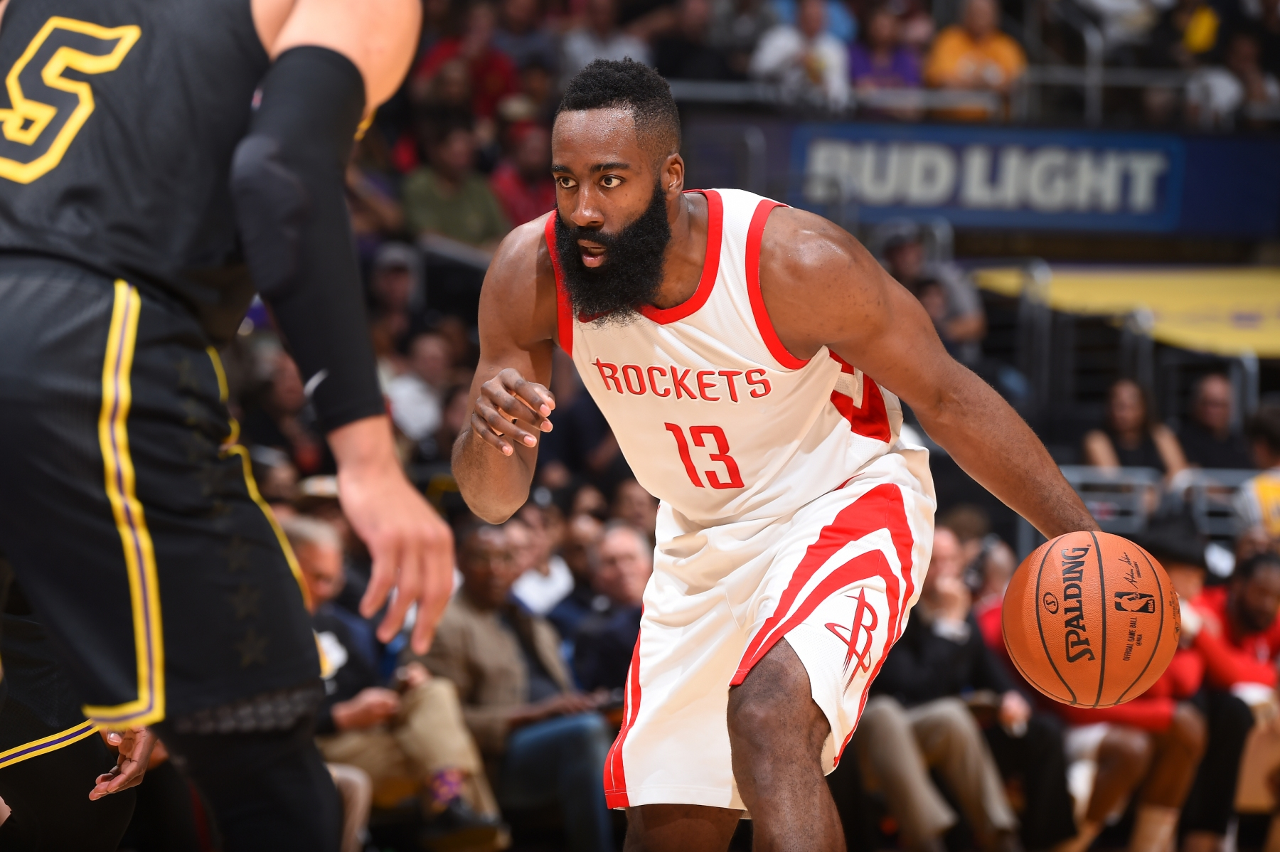 7e9c9aa82ffe James Harden  13 of the Houston Rockets handles the ball against the Los  Angeles Lakers
