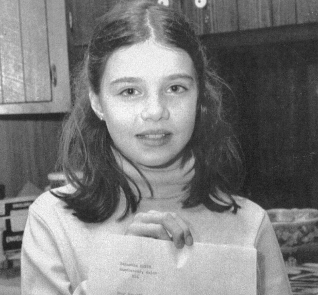 Then-10-year-old Samantha Smith sent a letter to Soviet leader Yuri Andropov pleading for an end to the arms race. She received a letter back from him saying that the Soviet Union was everything possible to avoid nuclear war. He also invited her to visit a Russian youth camp. (Getty)