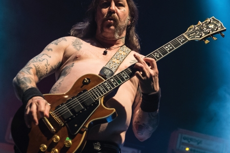LONDON, UNITED KINGDOM - APRIL 30: Guitarist Matt Pike of American heavy metal group Sleep performing live on stage at The Roundhouse in London on April 30, 2017. (Photo by Kevin Nixon/Metal Hammer Magazine via Getty Images)