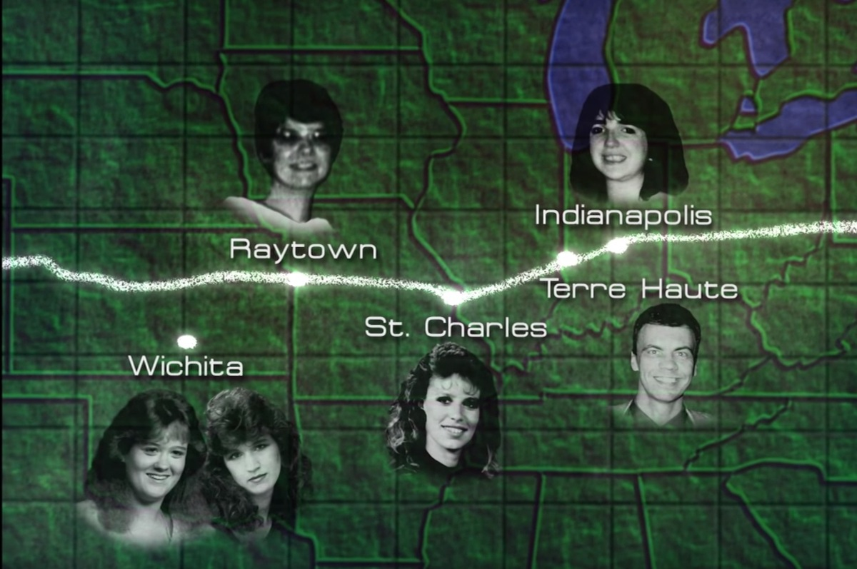 Death map of the I-70 killer. ('Unsolved Mysteries')