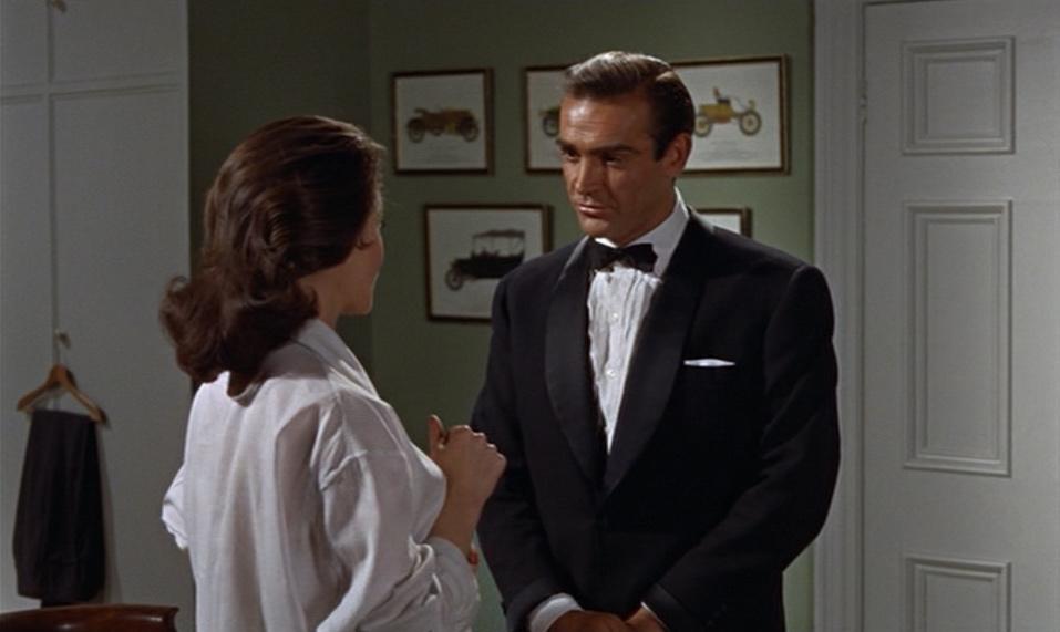 72de7fae8b Scottish actor Sean Connery, as fictional secret agent James Bond in a  scene with Eunice