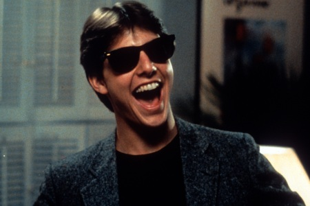 Tom Cruise laughs in a scene from the film 'Risky Business', 1983. (Warner Brothers/Getty Images)