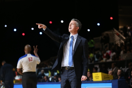 ESPN TV Personality Bill Simmons Coach of the West Team reacts to a play against the East Team during the Sprint NBA All-Star Celebrity Game 2014 at Sprint Arena during the 2014 NBA All-Star Jam Session at the Ernest N. Morial Convention Center on February 14, 2014 in New Orleans, Louisiana. (Photo by Joe Murphy/NBAE via Getty Images)