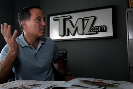 TMZ boss Harvey Levin at the website's offices in Glendale