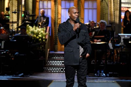 Host Dave Chappelle during the monologue on  SNL November 12, 2016 -- (Will Heath/NBC/NBCU Photo Bank via Getty Images)
