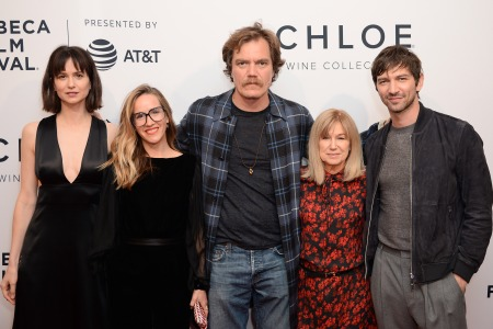 """(L-R) Katherine Waterston, Meredith Danluck, Michael Shannon, Mary Kay Place and Michiel Huisman attend a screening of """"State Like Sleep"""" during the 2018 Tribeca Film Festival at SVA Theatre on April 21, 2018. (Andrew Toth/Getty Images for Tribeca Film Festival)"""