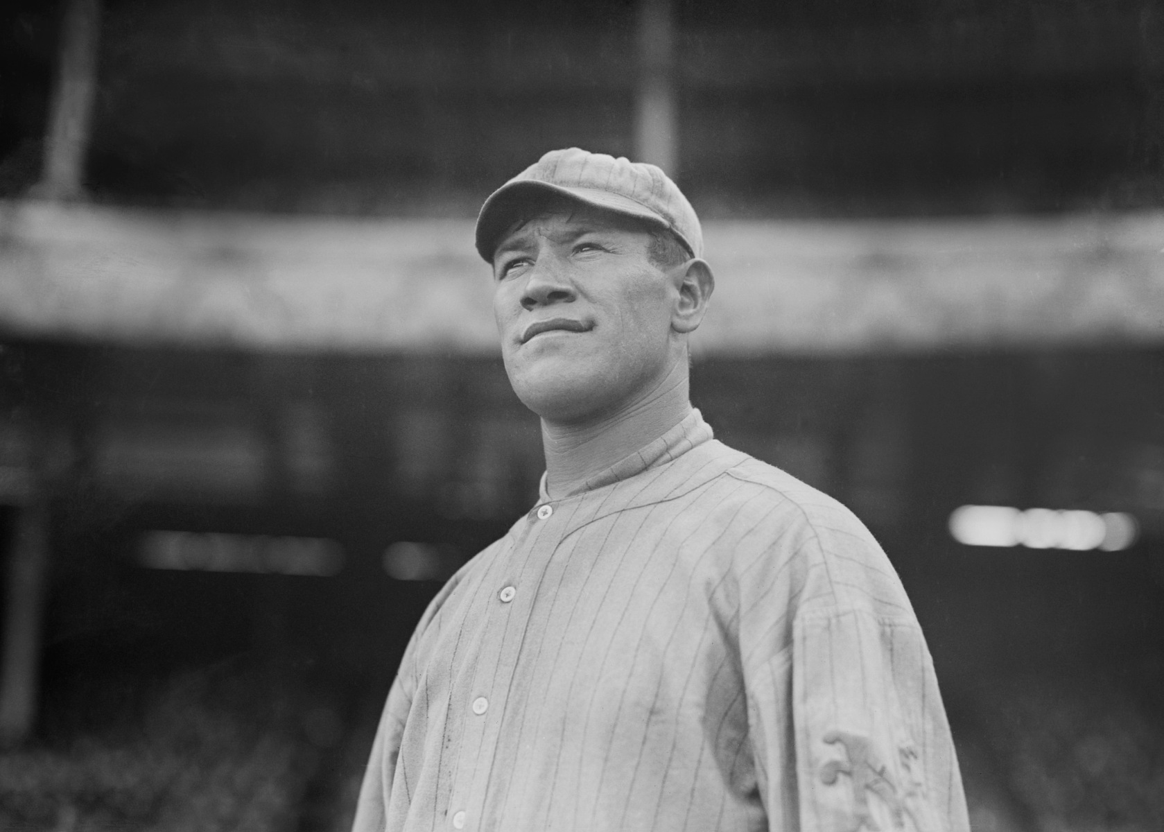 Jim Thorpe, Major League Baseball Player, two-time gold medalist, and Football Hall of Famer, Portrait, New York Giants, New York City, New York, USA, Bain News Service, 1913. (Universal History Archive/UIG via Getty Images)