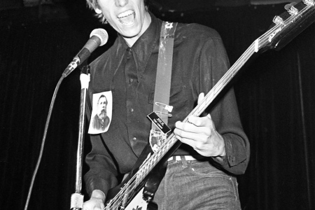 Tony Kinman of The Dils performs on stage in Los Angeles, California, United States circa 1979. (Donna Santisi/Redferns)