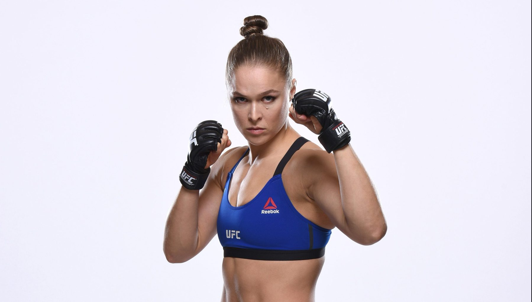 Ronda Rousey poses for a portrait during a UFC photo session inside the MGM Grand Conference Center on December 26, 2016 in Las Vegas, Nevada. (Photo by Jeff Bottari/Zuffa LLC via Getty Images)