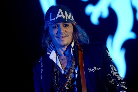 Johnny Depp of Hollywood Vampires performs live on stage at Wembley Arena on June 20, 2018 in London, England.  (Dave J Hogan/Getty Images)