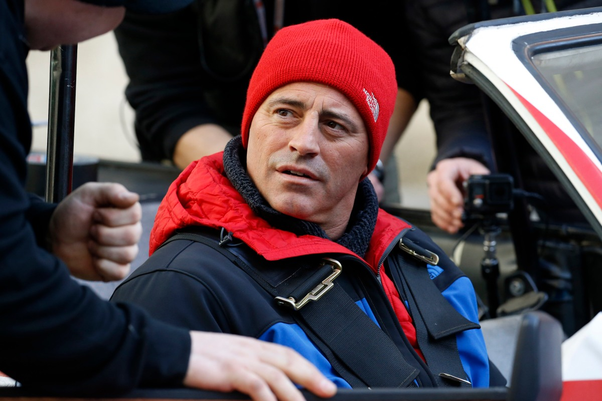 Matt Le Blanc seen filming scenes for 'Top Gear' at the BBC, Portland Place on February 19, 2016 in London, England. (Photo by Alex Huckle/GC Images)
