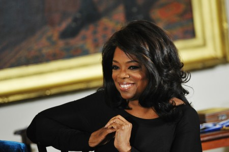 Oprah Winfrey attends the Presidential Medal of Freedom ceremony