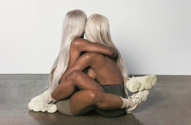 The Clermont Twins pose for Kanye West's new YEEZY campaign (Eli Russell Linnetz/Twitter)