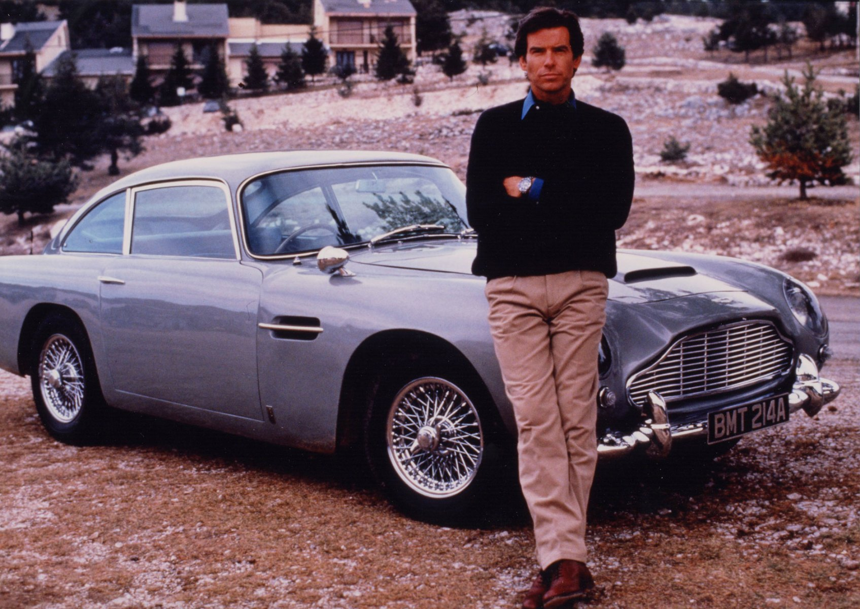 """Pierce Brosnan's """"GoldenEye"""" Aston Martin Would Be a Jolly Good Father's Day Gift"""