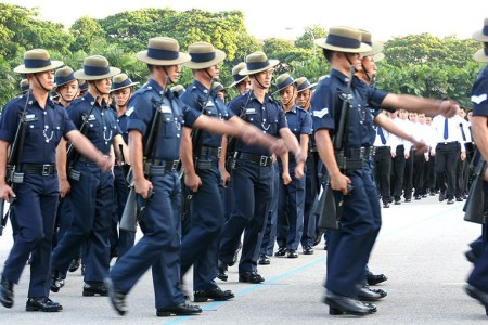 The Gurkha Contingent of the Singapore Police Force (Wikimedia)