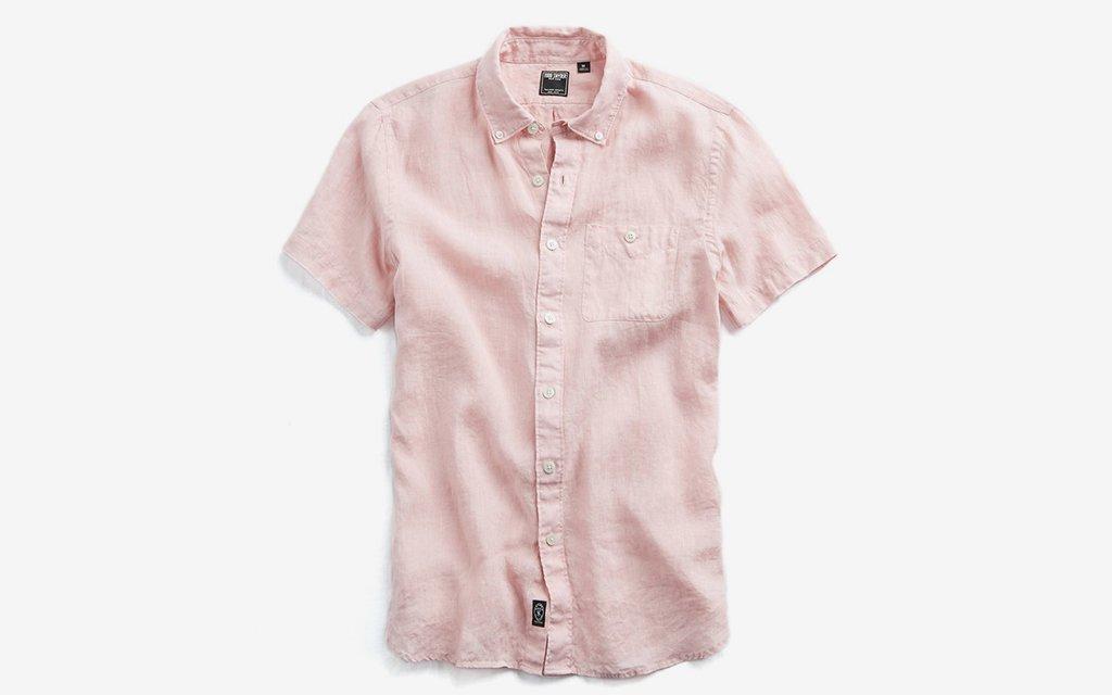 Todd Snyder Short Sleeve Linen Shirt