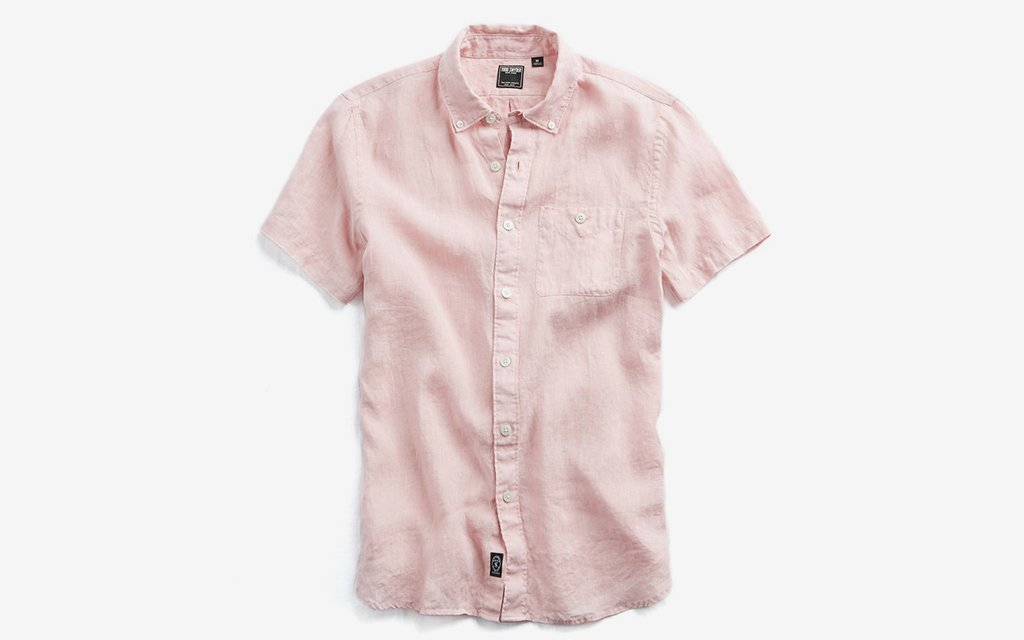 Todd Snyder Short Sleeve Linen Shirt