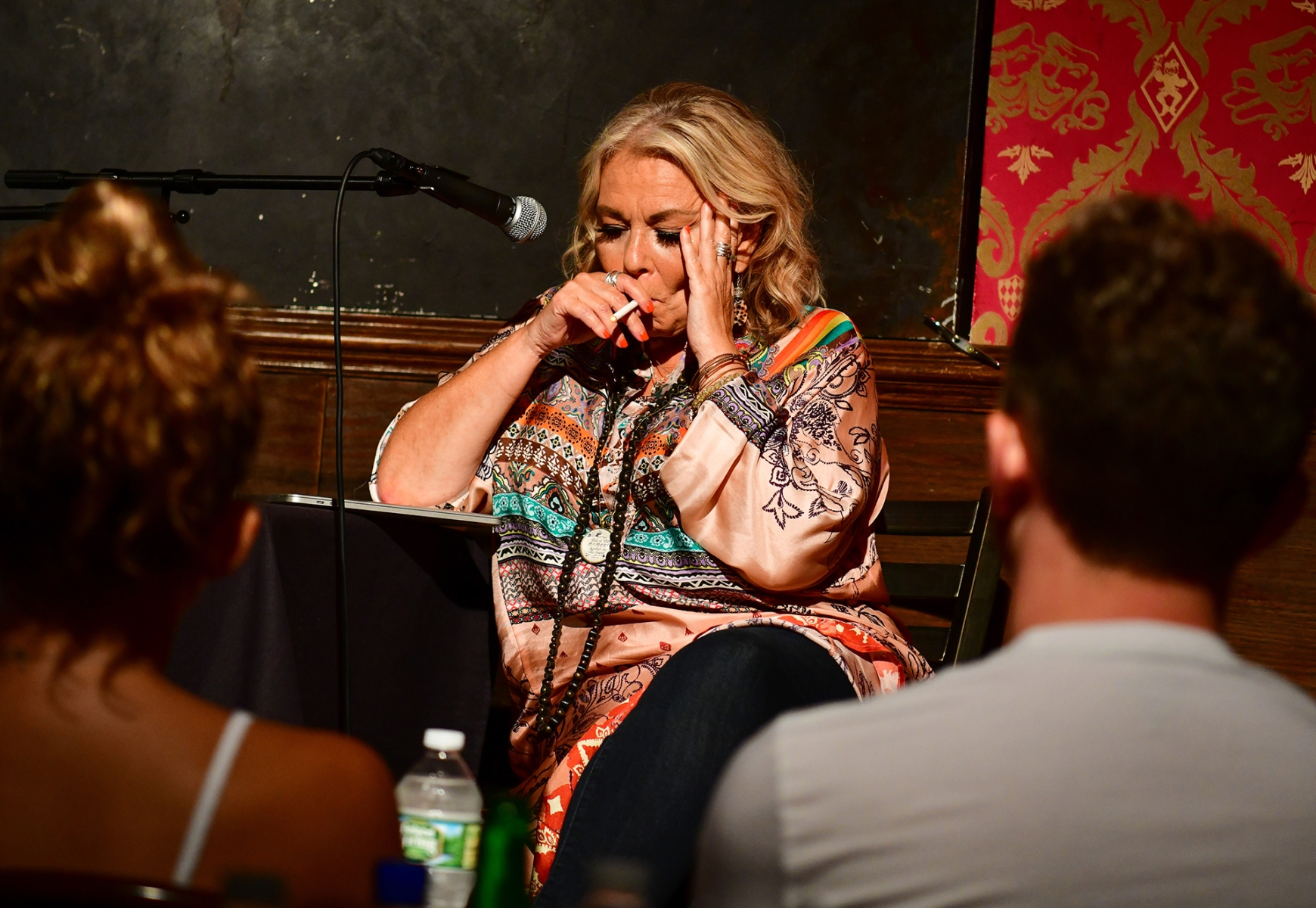 Roseanne Barr attends live podcast at Stand Up NY on July 26, 2018 in New York City as her first public appearance since she was fired from her ABC show. (James Devaney/Getty Images)