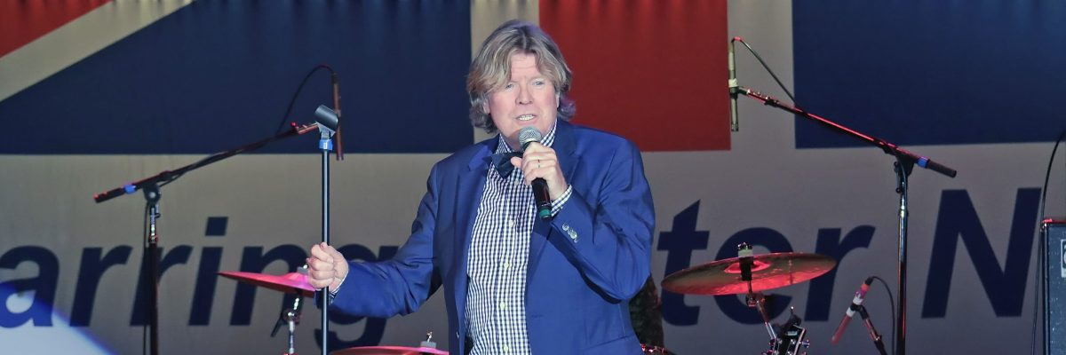 Peter Noone of Herman's Hermits performs at Resorts Superstar Theater on November 26, 2016 in Atlantic City, New Jersey.  (Photo by Donald Kravitz/Getty Images)