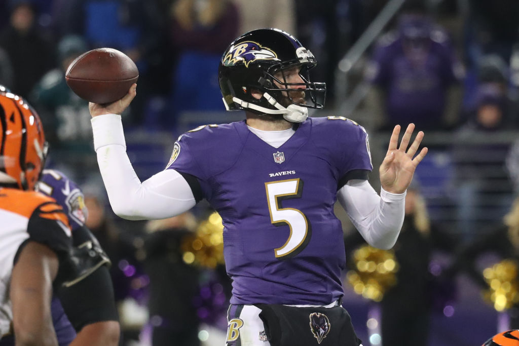 Quarterback Joe Flacco, formerly of the Baltimore Ravens. (Rob Carr/Getty)
