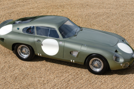 The 1963 Aston Martin DP215 Grand Touring Competition Prototype which RM Sotheby's will auction at Monterey 2018. (Tim Scott ©2018 Courtesy of RM Sotheby's)