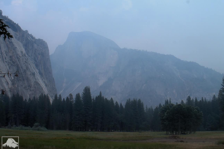 Iconic landmarks in Yosemite National Park are nearly obscured by smoke from the Ferguson Fire (Yosemite Conservancy webcam)