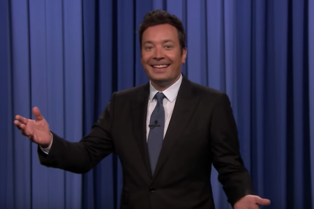 Jimmy Fallon makes fun of Sean Spicer in his monologue (NBC/YouTube)