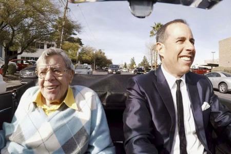 The late Jerry Lewis with Jerry Seinfeld in 'Comedians in Cars Getting Coffee.' (Netflix)