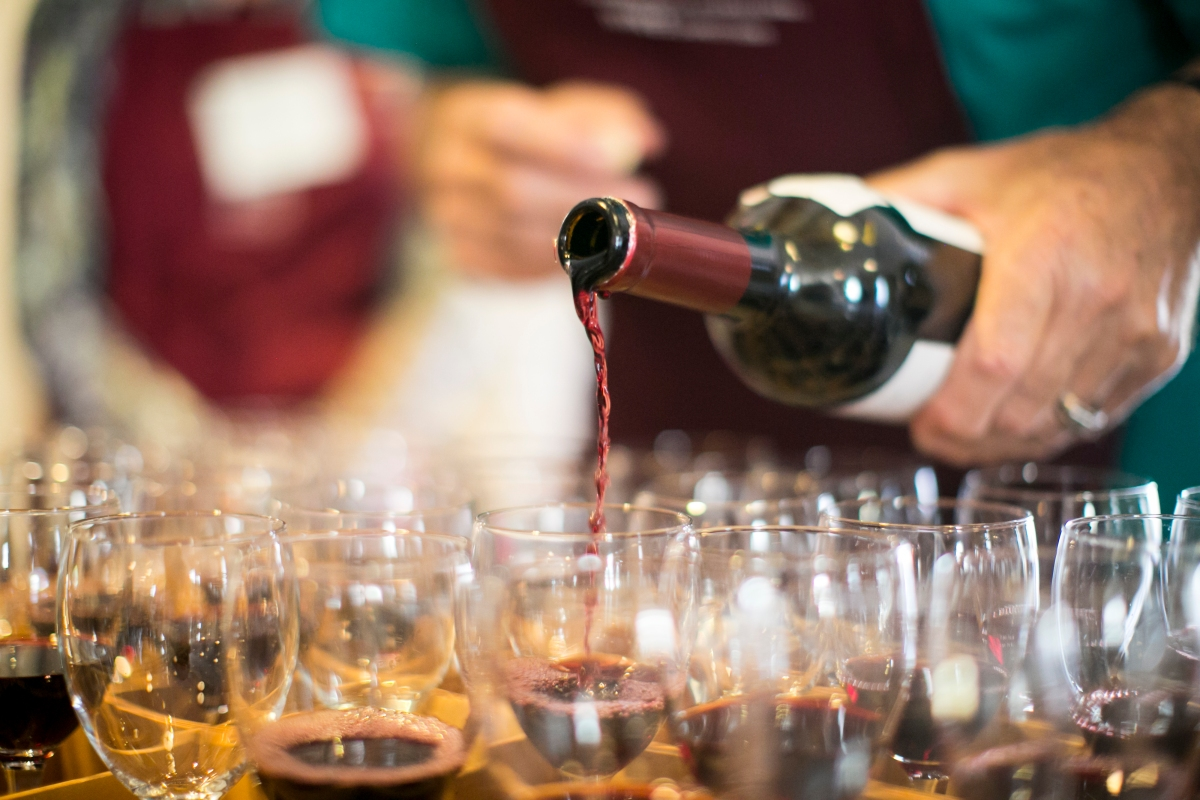Wine is poured at the New York World Wine & Spirits Competition.  (Nikki Ritcher Photography, Nikki Ritcher)